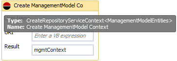 vCAC Workflow Designer mgmtContext