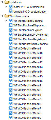 vCAC Workflow Stubs