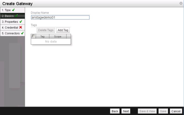 NSX L2 VTEP Gateway - Create Gateway 2