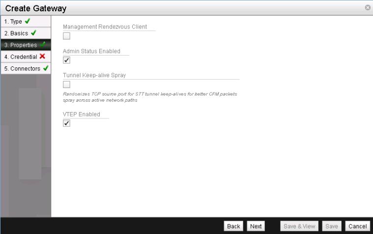 NSX L2 VTEP Gateway - Create Gateway 3