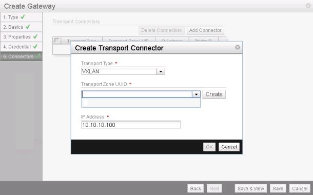 NSX L2 VTEP Gateway - Create Gateway 5