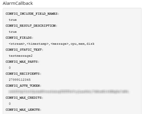 Graylog Clickatell AlarmCallback Configuration
