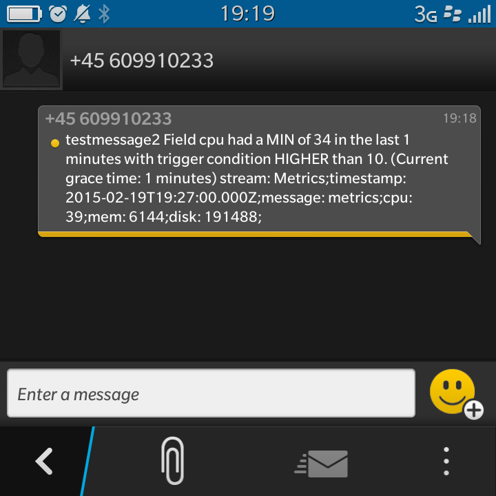 Sent SMS
