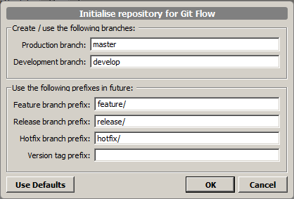 Initialise repository with GitFlow 2