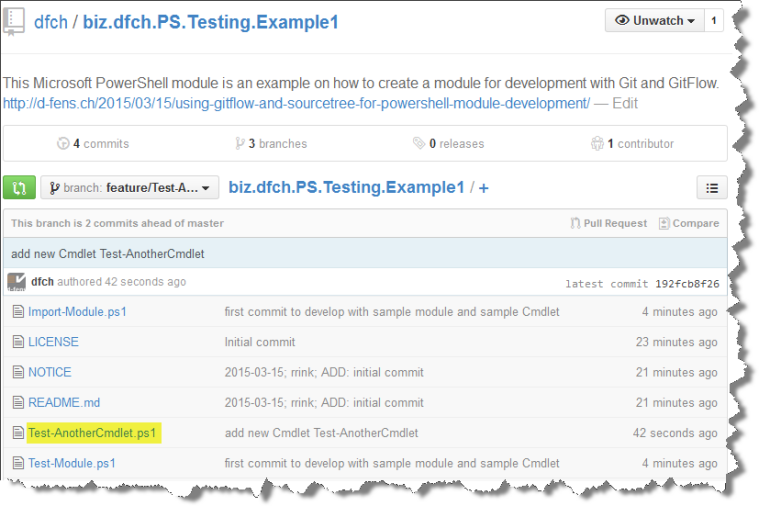 Viewing pushed Feature in Web Repository