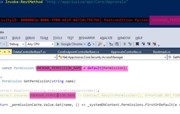 CodeContract error message