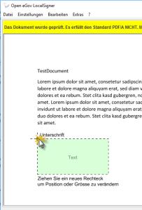 Screenshot - Sign PDF with Open eGov LocalSigner